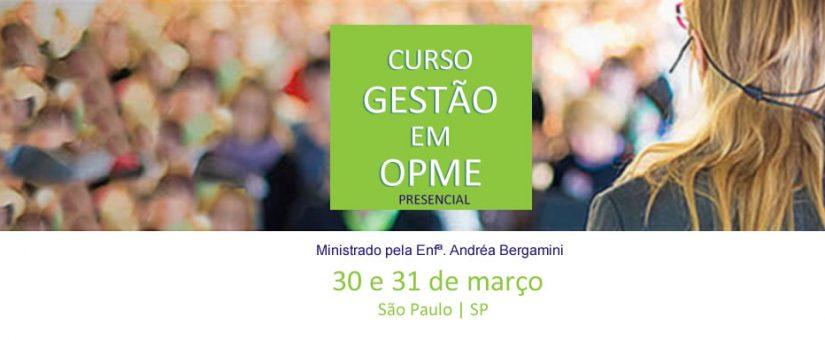 Curso Presencial | Gestão em OPME | 30 e 31 de Março