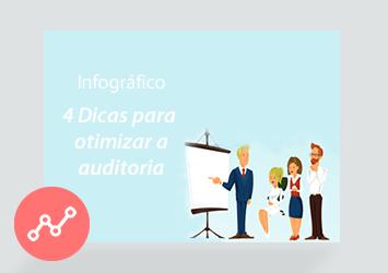 [Infográfico] 4 Dicas para otimizar a auditoria
